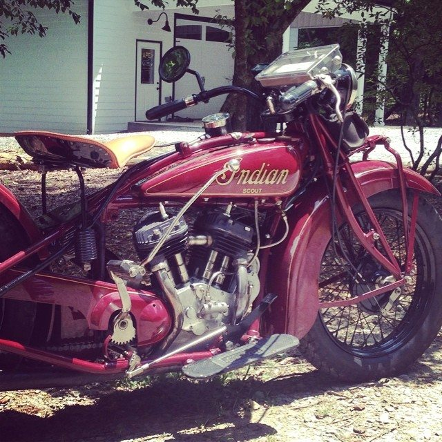 1929 Indian came by the shop on a shakedown ride for the upcoming Cannonball Race. RAD!