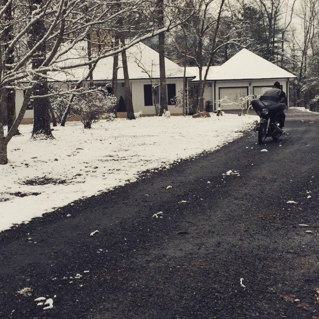 You don't need a sled. You need @mikewolfeamericanpicker 's sweet #r69s #vintagebmwmotorcycle with rare Flanders shield!  25 degree #snowday And no gloves needed. It could be yours!! Link in bio. #antiquearchaeology #enjoyyourride