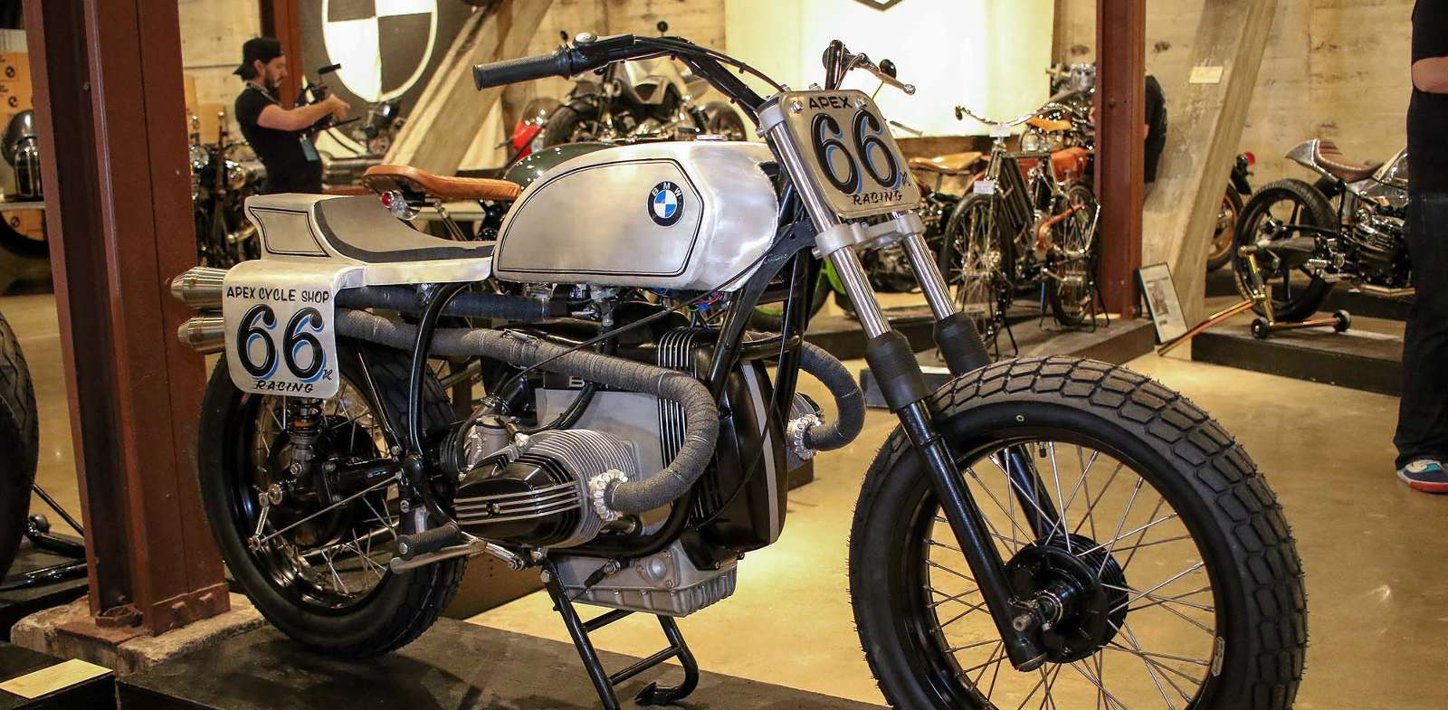 Restored BMW racing bike